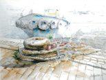 ロゴ:第5回福田徹子絵画展「私の絵の歩み」