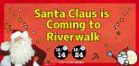 ロゴ:リバーウォークにサンタクロースがやってくる!