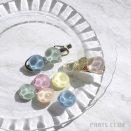 写真:〇新商品〇透明感が美しい、アクリル貼付けパーツ 4個入・各¥132(税込)